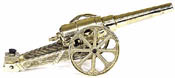 Large Yellow Brass Cannon