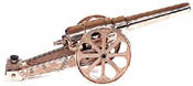 Large Red Brass Cannon