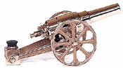Small Red Brass Cannons