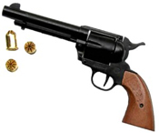 1873 Peacemaker 9 MM Blank Gun Black-Wood