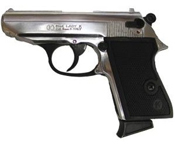 PPK 8MM Blank Firing Gun � Nickel
