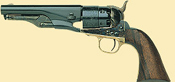 1860 Army Steel Sheriff Black Powder Revolver
