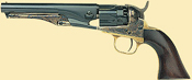 1860 Army Steel Sheriff Revolver with Fluted Cylinder