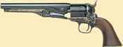 1861 Navy Steel Black Powder Revolver