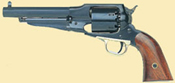 1858 Remington Steel Frame Black Powder Revolver