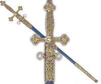 Ceremonial Masonic Sword.