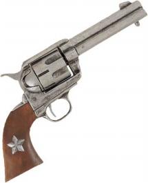 Western Gray Pistol- Wood Grips w/Star - Non Firing Western