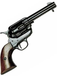 WESTERN  PEACEMAKER PISTOL BLACK FINISH
