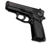 ARAS Compact 9MM PA Blank Firing Gun Black