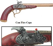 Colonial English Percussion Dueling Pistol Cap-Firing Replica