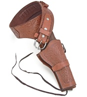 Western Deluxe Tooled Brown Large Holster