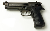 Beretta V92-F 9MM PA Blank Firing Guns - Black