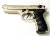 Beretta V92F 9MM PA Blank Firing Gun - Nickel