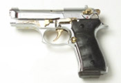 Beretta V92F Compact 9MM PA Blank Firing Guns - Nickel-Gold