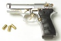 Beretta V92-F Compact 9MM PA Blank Firing Guns - Nickel-Gold Engraved