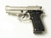 Beretta V85-N - 9MM PA Blank Firing Gun - Nickel