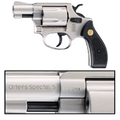Smith & Wesson Blank Firing Gun Chief's Special 9MM - Nickel