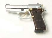 Beretta V85-N/G - 9MM PA Blank Firing Guns-Nickel-Gold