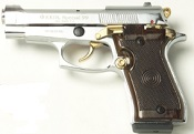 Beretta V85 9MM PA Blank Firing Guns-Nickel-Gold