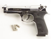 Full Automatic Blank Gun Beretta V92F Jackal 9MM PA Nickel