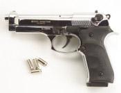 Full Automatic Blank Gun Beretta V92F Jackal 9MM PA Nickel