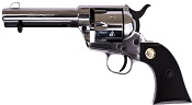 1873 Peacemaker .22LR/6mm Blank Gun-Silver-Black