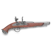 18th Century Pirite Flintlock Pistol Gray Finish