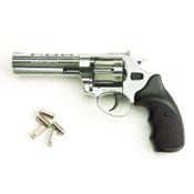 "Viper 4.5"" Barrel 9mm Blank Firing Gun-Nickel"
