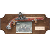 Framed George Washington Pistol Dark Wood