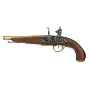 Left-Handed 18th Cent. Flintlock Brass Finish