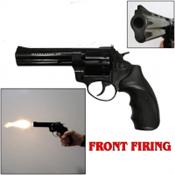 "ZorakiR1 4.5"" Revolver Front Fire Blank Gun 9MMPA/380 Black"