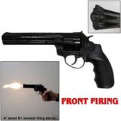 "Zoraki R1 6"" Revolver Front Fire Blank Gun 9MMPA/380 Black"