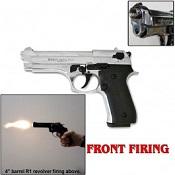 Front Firing Jackal Full Auto 9MMPA Blank Gun Chrome