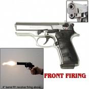 Front Firing Beretta Cougar 9MMPA Blank Gun-Chrome