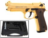 Blow V92F 9MMPA Blank Firing Gun Gold Finish/Wood Grip