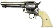 1873 Peacemaker 9MM/380 Blank Gun Silver-Black - Ivory Grips