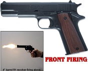 1911 45 Government Front Fire 9mmPA Blank Gun Replica Black