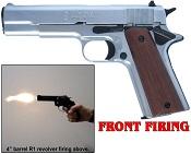 1911 45 Government Front Fire 9mmPA Blank Gun Replica Nickel
