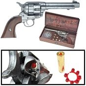 1873 Peacemaker Western Cap Pistol Gray Finish