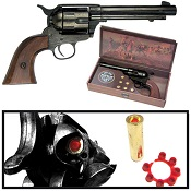 1873 Peacemaker Western Cap Pistol Blued Finish