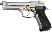 V92F Jackal Fully Automatic Beretta 9MM PA Blank Gun Chrome Gold