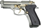 Full Automatic Blank Gun Beretta V92F Jackal Compact 9MM PA Chrome Gold