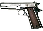 Bruni 1911 Blank Firing Gun 8mm Black- Nickel