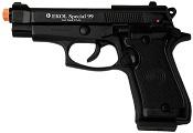 Front Firing Beretta V85 9MMPA Blank Firing Gun Black
