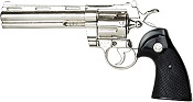 "357 Police Magnum With 6"" Barrel Non Firing Nickel"