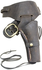 Fast Draw Oiled Brown Leather Western Holster-Medium