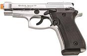 Front Firing Beretta V85 9MMPA Blank Firing Gun Chrome