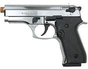 Front Firing Beretta Cougar 9MMPA Blank Firing Gun Chrome