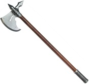 15TH CENTURY FRENCH BATTLE AXE GRAY FINISH
