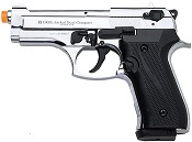 Front Firing Jackal Compact 9MMPA Blank Firing Gun-Chrome